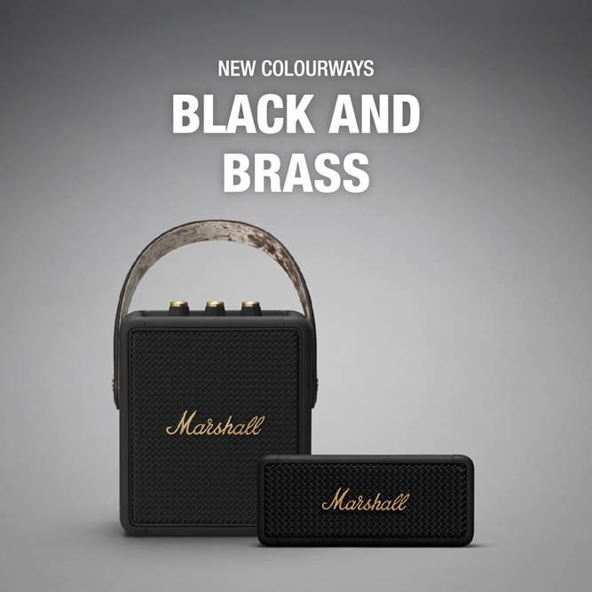 Marshall Emberton New Colourways Black and Brass.