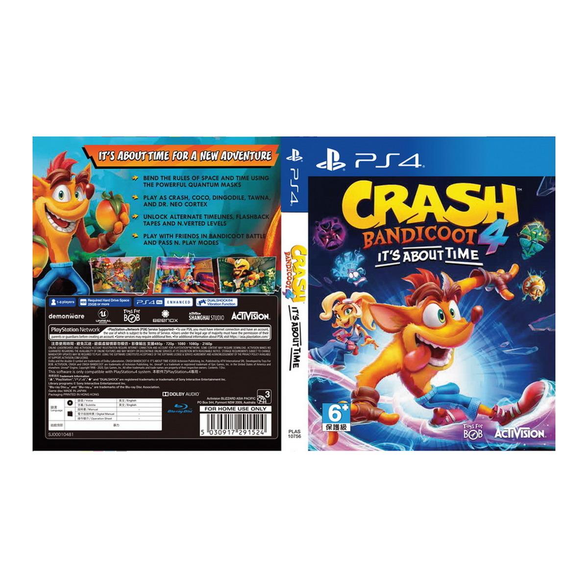 เกม PS4 Crash Bandicoot 4: It's About Time