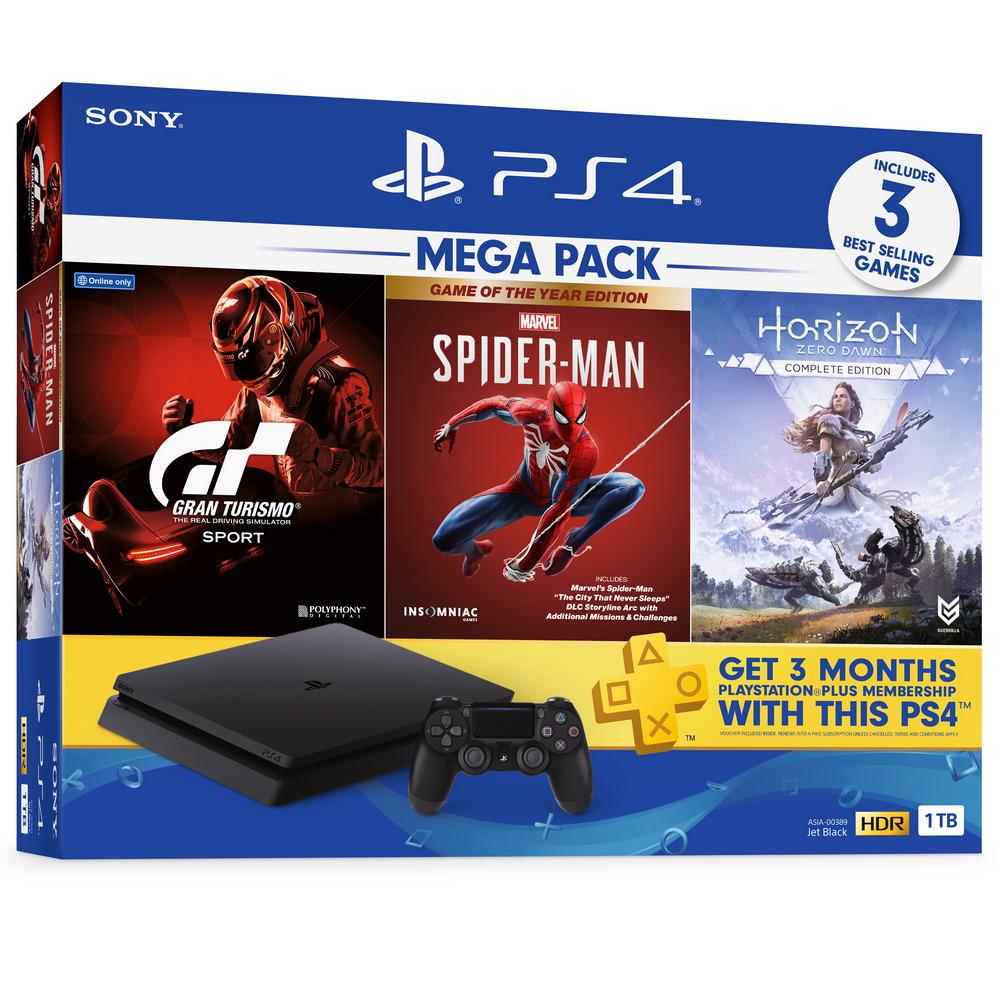 เครื่องเกมคอนโซล PS4 Mega Pack 3 (1TB) รุ่น ASIA-00389
