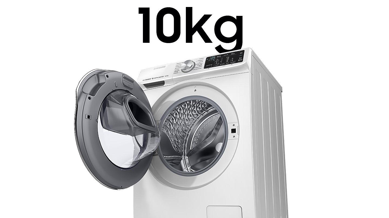 Samsung Front Load  Washing Machine (10 kg) WW10N64FRPW/ST