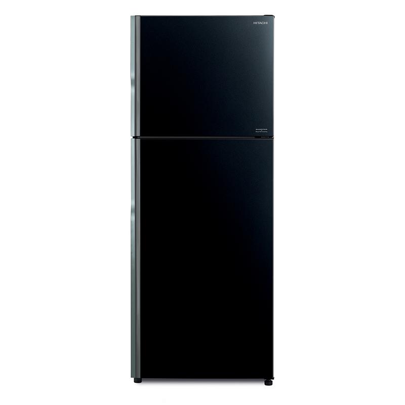 Hitachi Double Doors Refrigerator 15 Cubic Glass Black R-VGX400PF GBK